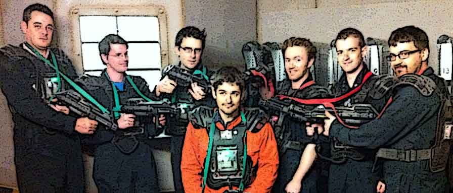 Mature adaptation of a childhood laser tag experience